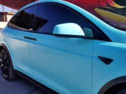 Tesla Car Wrap De-Chrome