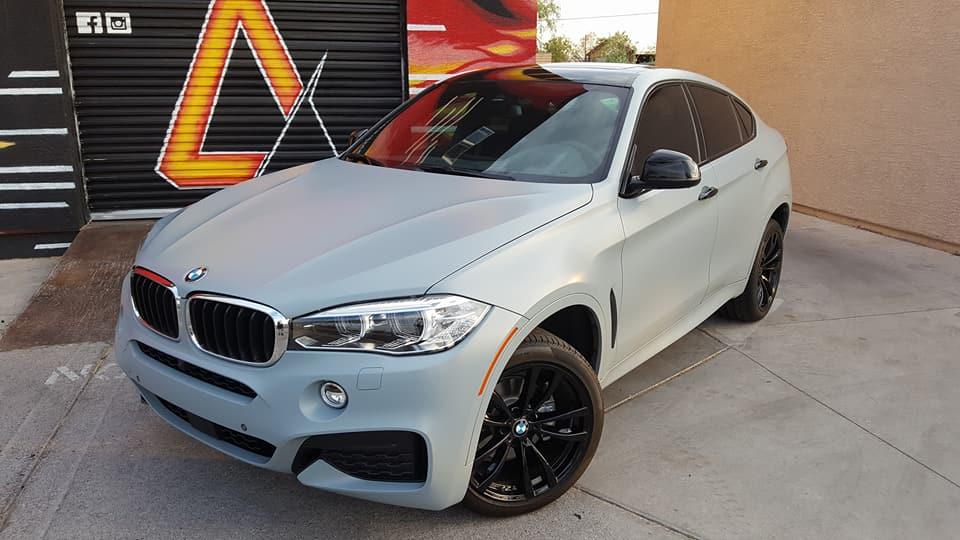 BMW X6 3M Vinyl Wrap Satin Grey