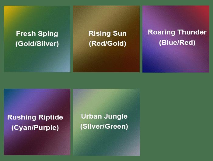 Avery Colorflow Color Shifting Vinyl Wrap Colors