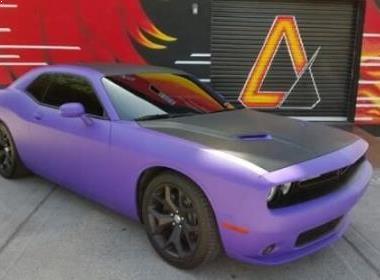 Challenger Vehicle Wrap Powder Rims