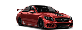 Mercedes Vinyl Wrap Racings Stripes
