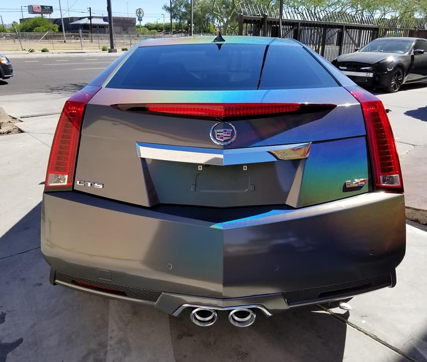 Cadillac CTS-V 3M Flip Vehicle Wrap