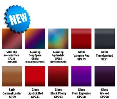 3M Vinyl Wrap Flip Colors