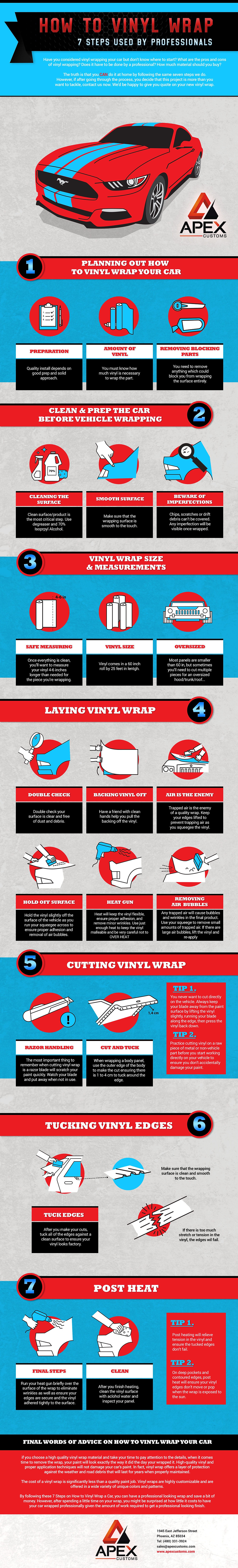 How to Vinyl Wrap 7 Steps Used By Professionals Infographic