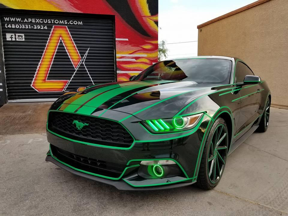 Tron Ford Mustang Vinyl Wrap