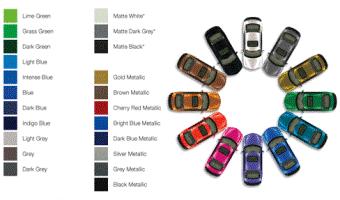 Avery Color Change Vinyl Vehicle Wrap Colors