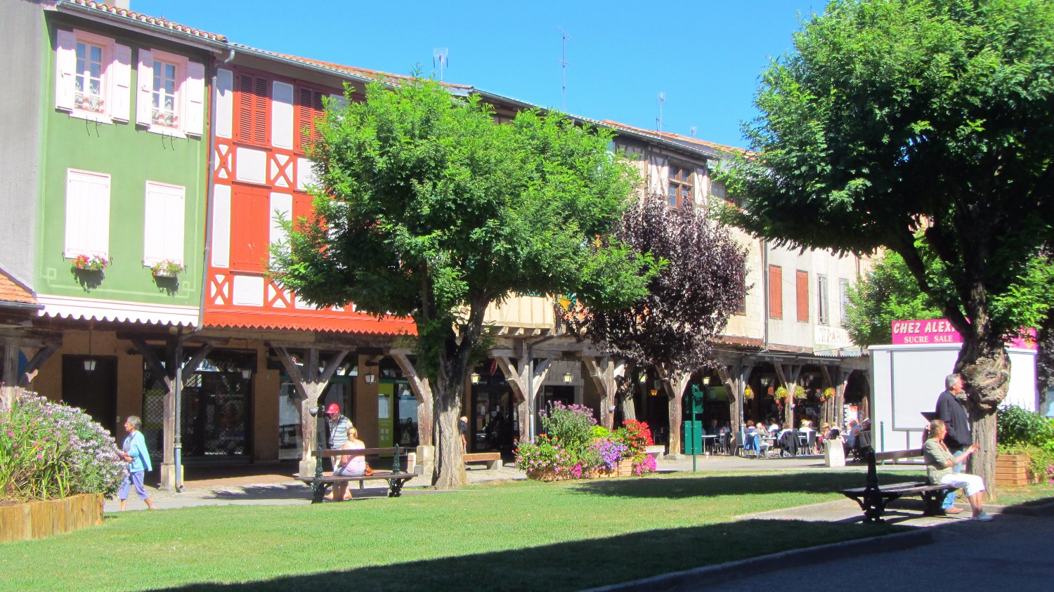 Town square in the summer
