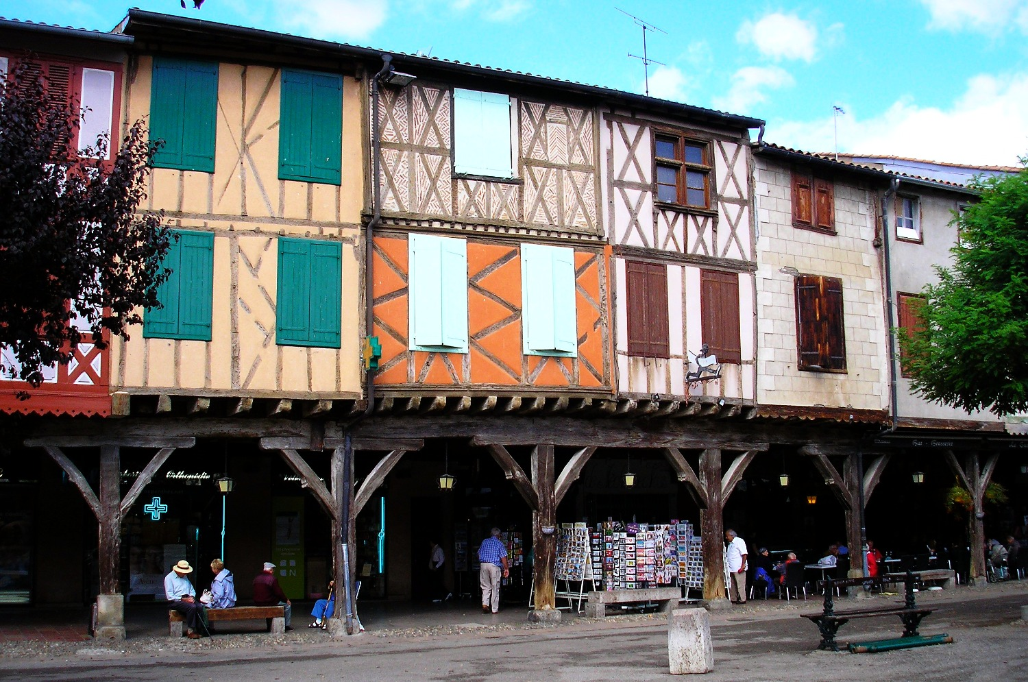 Houses above Mirepoix's town square