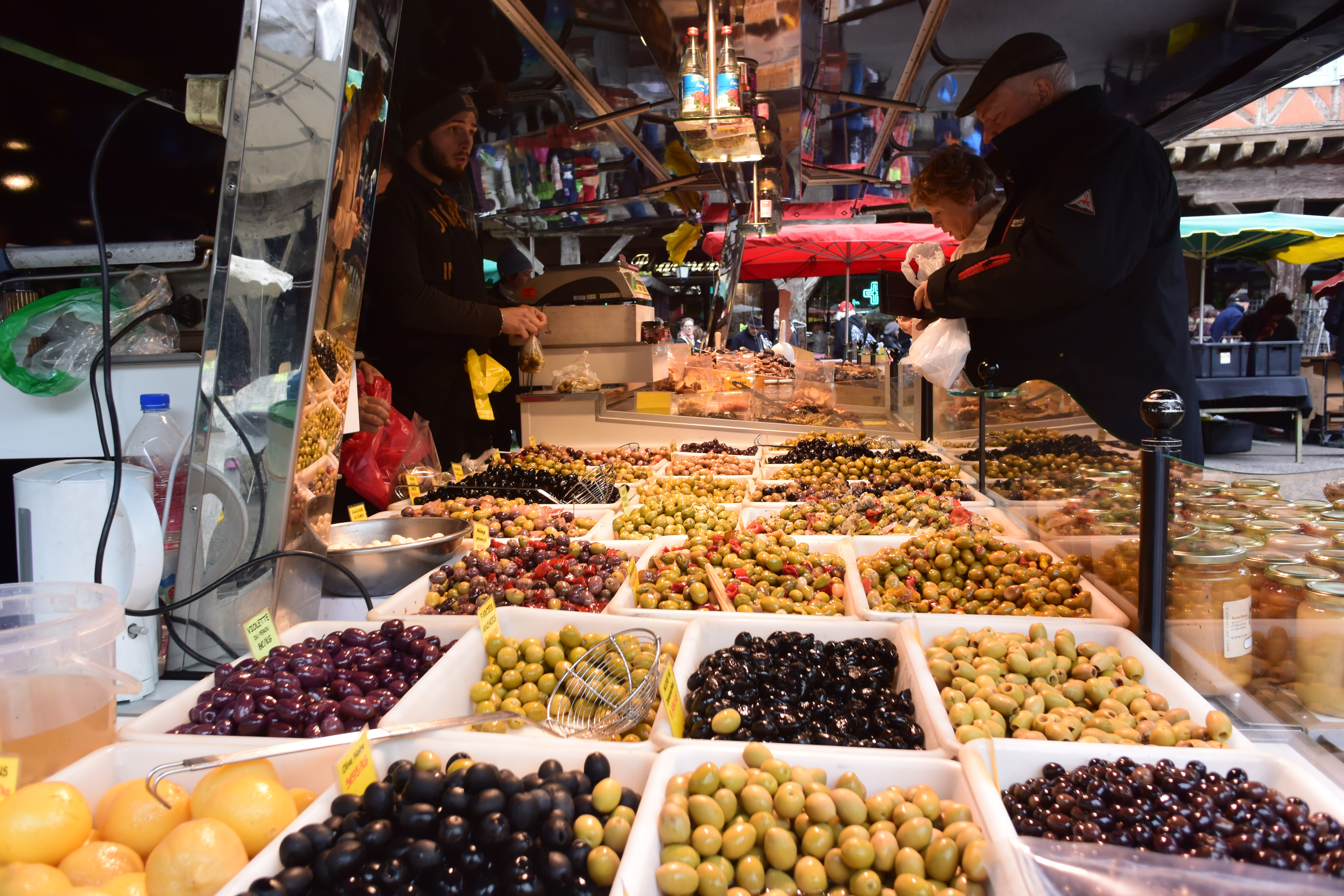 Olive Stand at market