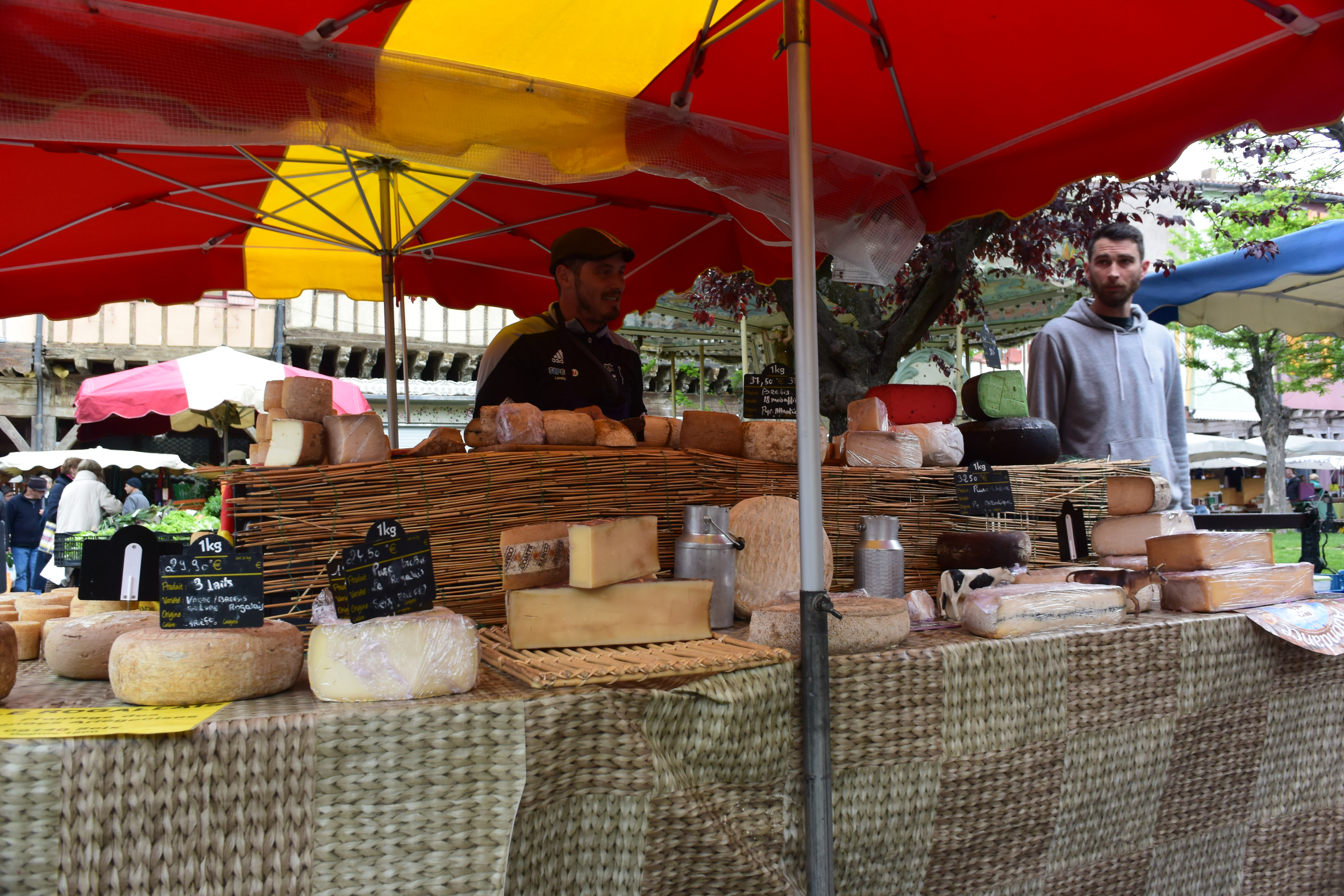 Cheese vendor at the market