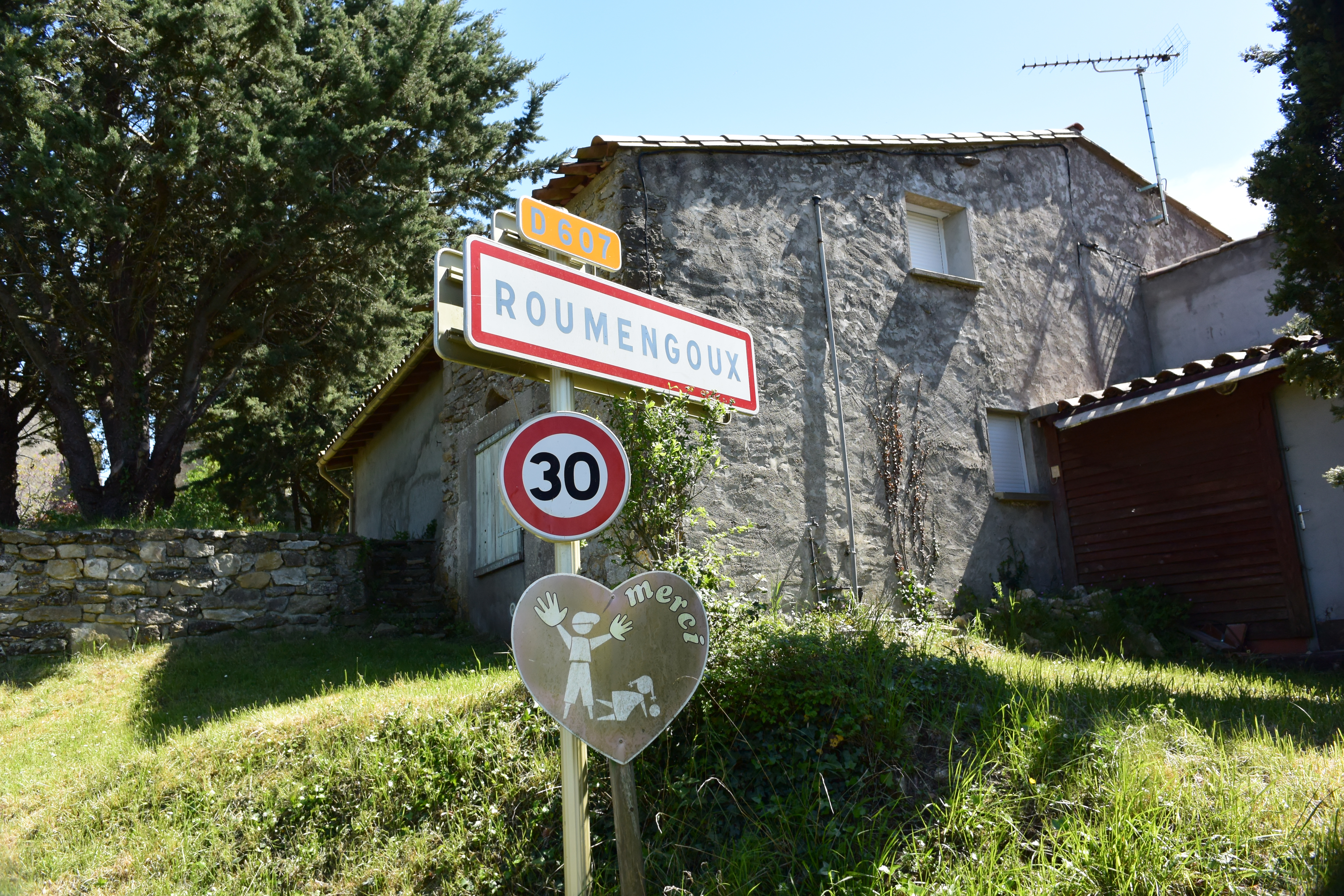 Street Sign for Roumengoux