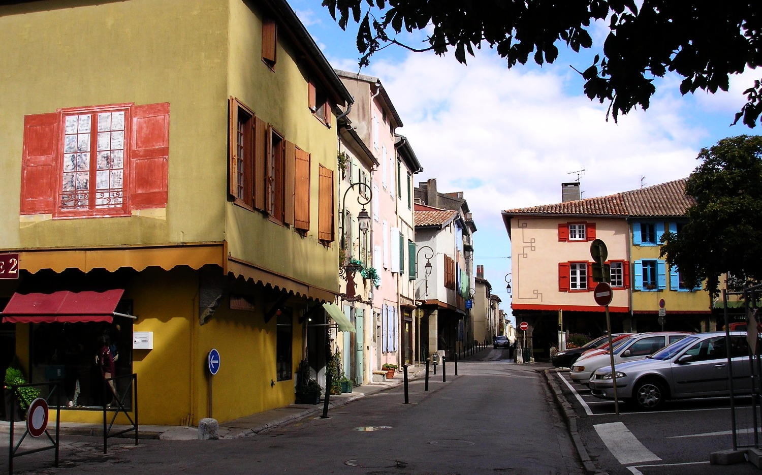 Street in Mirepoix France