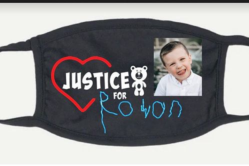 Justice for Rowan mask with picture