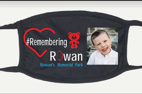 Remembering Rowan mask with picture