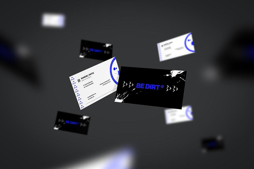 Flying Business Card Mockup azulbdrft.jp