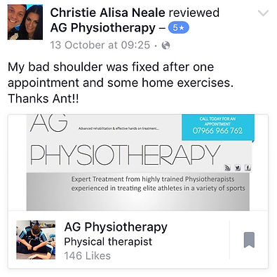Physiotherapy Chelmsford Essex shoulder pain
