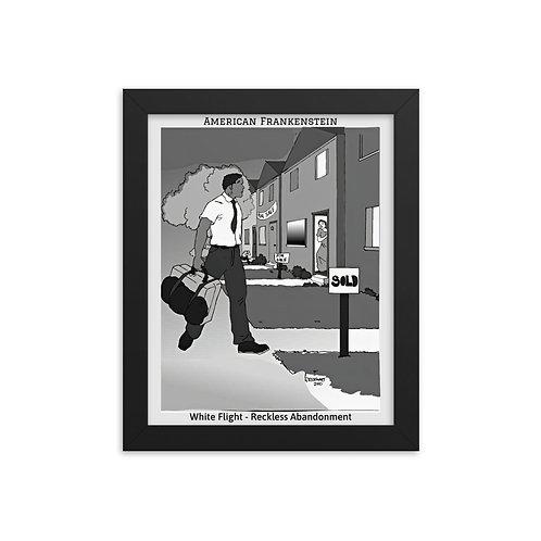 White Flight Framed Poster