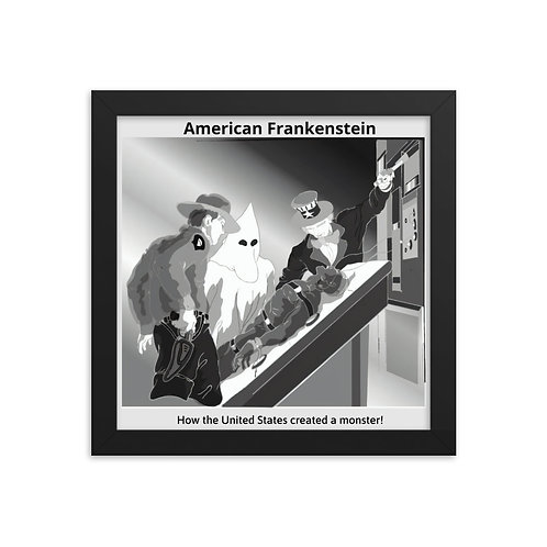 The Frankenstein Analogy framed poster