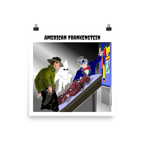 The Frankenstein Analogy Color Poster