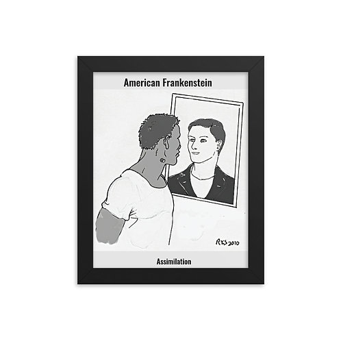 Assimilation framed poster
