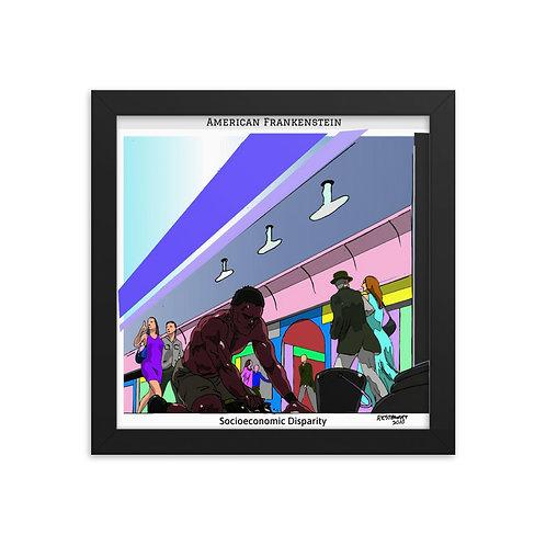 Socioeconomic Disparity Color Framed Poster
