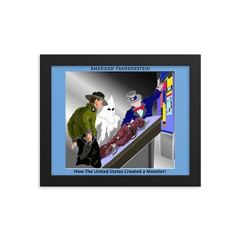 The Frankenstein Analogy Color Framed poster