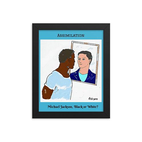 Assimilation color framed poster