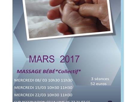 Les séances de massage bébé du mois de mars