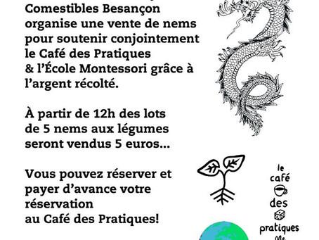 Des nems pour l'école Montessori et le café des pratiques !