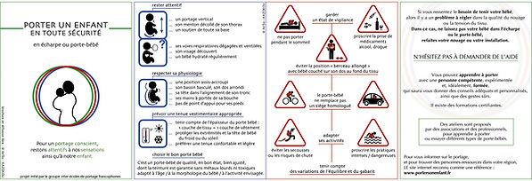 Flyer règles de sécurité portage