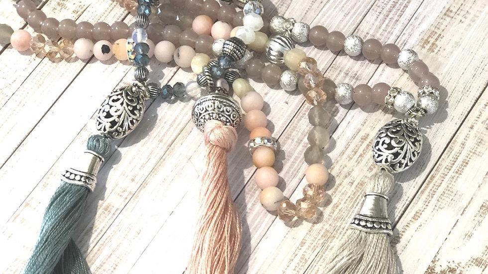 Beautiful long bead necklace