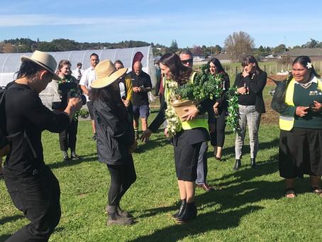 Prime Minister welcomed at Te Maara Kai O Wirihana