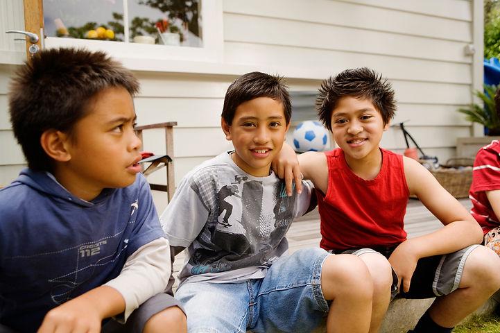 maori boys smiling