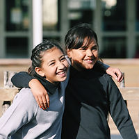 two friends at school
