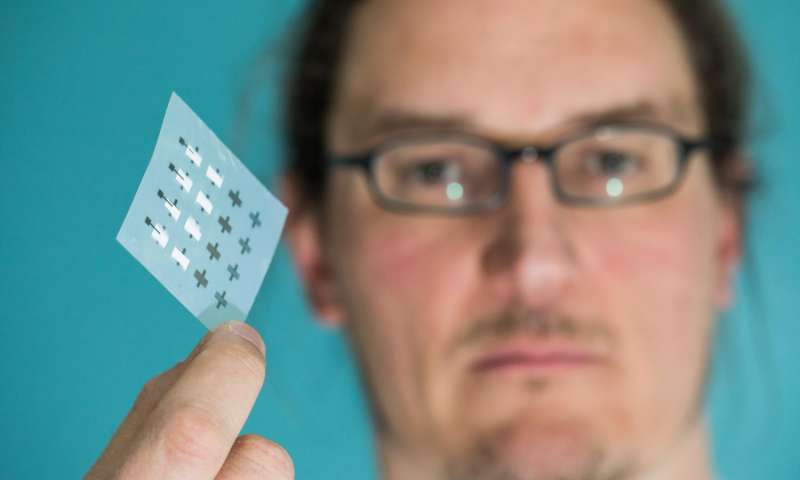 Prof Jonathan Coleman has fabricated printed transistors consisting entirely of 2-dimensional nanomaterials for the first time. Credit: AMBER, Trinity College Dublin
