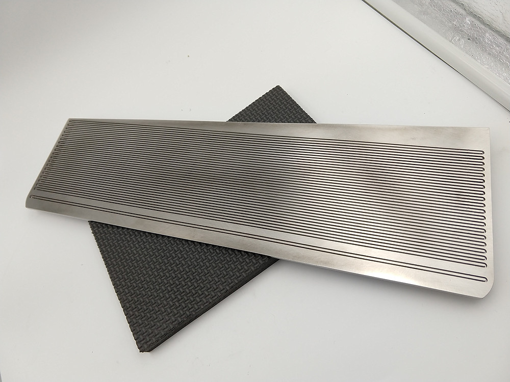 Inconel 625 high temperature heat exchanger formed with electrochemical machining.