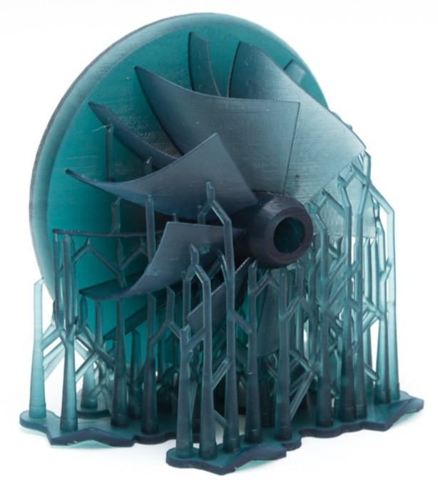 turbine with spider web-like support structures - an excellent application for electrochemical machining