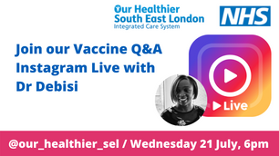 Vaccine Q&A Live on Instagram