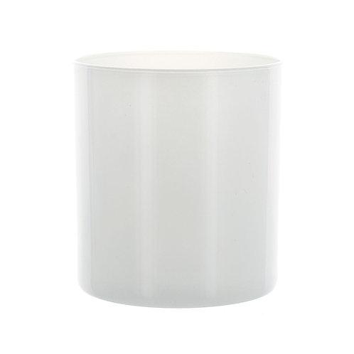 White Straight Sided Tumbler Jar