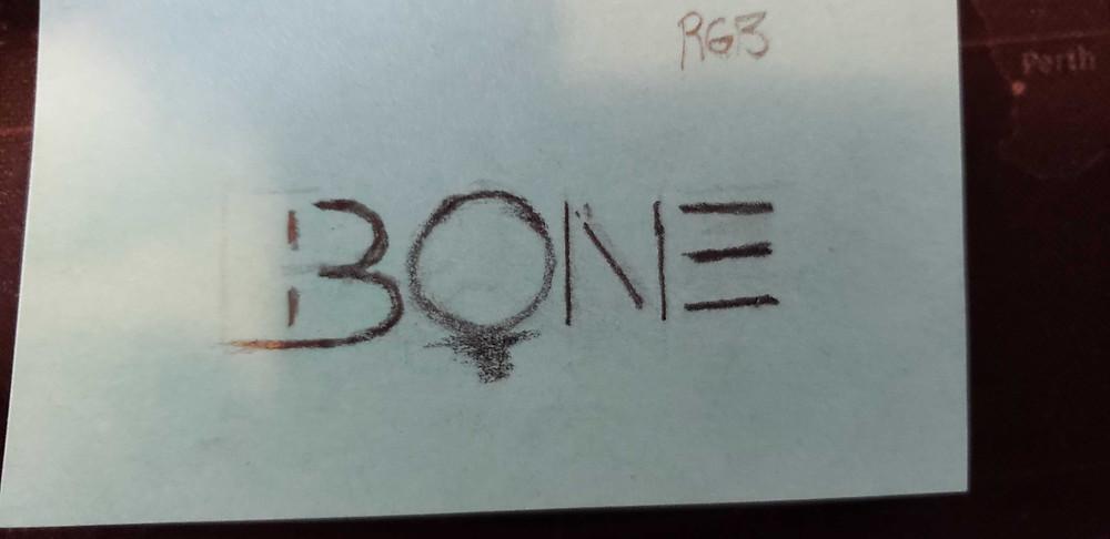 The Bone concepto de logo inicial