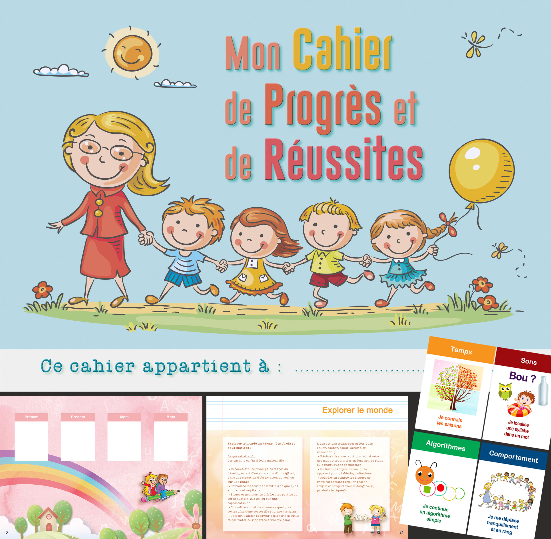 Cahier école 30 pages + 120 vignettes adhésives