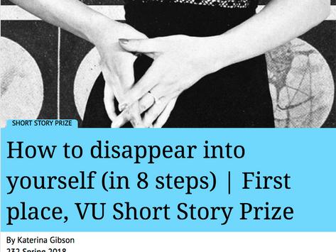 2018 VU Short Story Prize winner