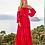 Thumbnail: Vestido longo crepe liso