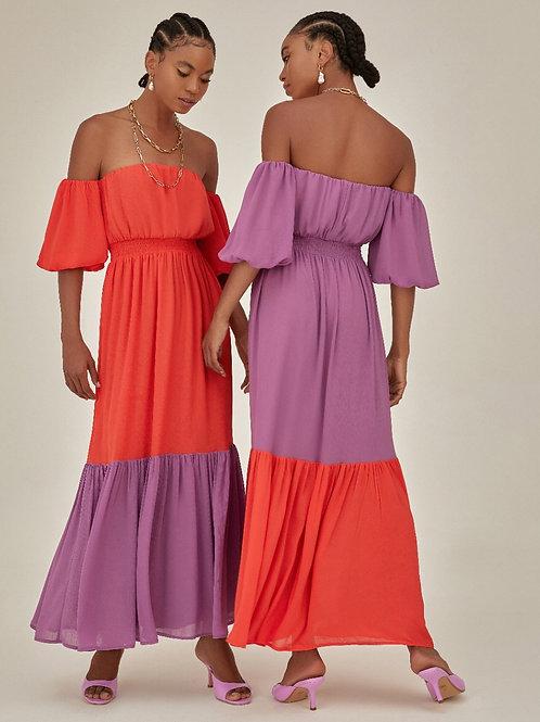 Vestido bicolor.