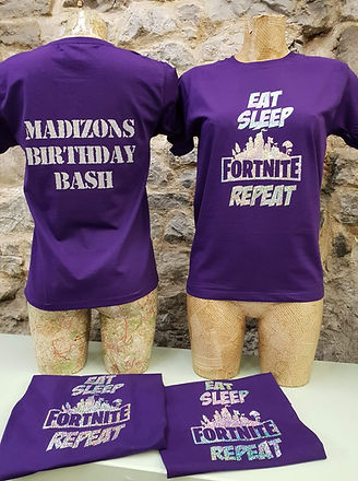 Personalised Birthday Party T shirts Sle
