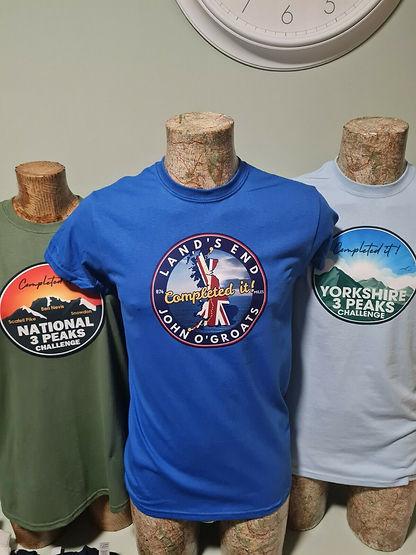 3 peaks lejog t shirt hoody sweathsirt three peaks lands end to john o groats walking runn