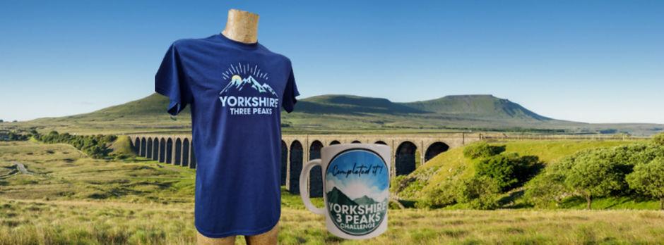 Yorkshire Three 3 Peaks Challenge T Shirt Mug Souvenir present gift congratulations achiev