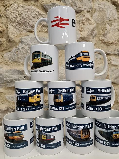 Railway Mugs British Rail Class 43 58 142 50 101 121 37 HST Inter City 125 Class 150 BR lo