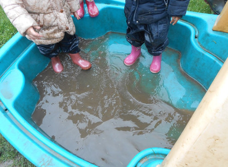 Muddy Puddle Splashing!
