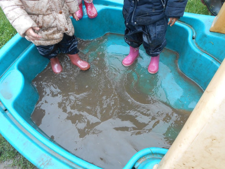 Muddy Puddle Splashing!